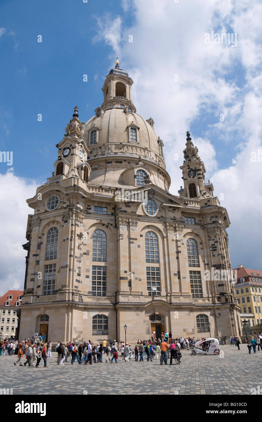 Frauenkirche (Church of Our Lady), Dresden, Saxony, Germany, Europe Stock Photo