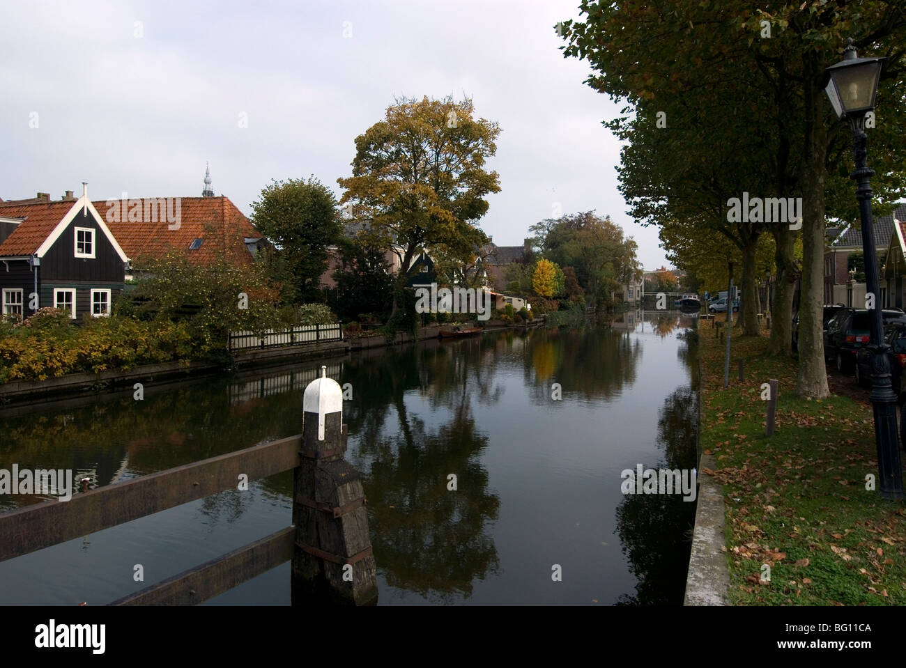 Main canal, outskirts of Edam, Netherlands, Europe - Stock Image