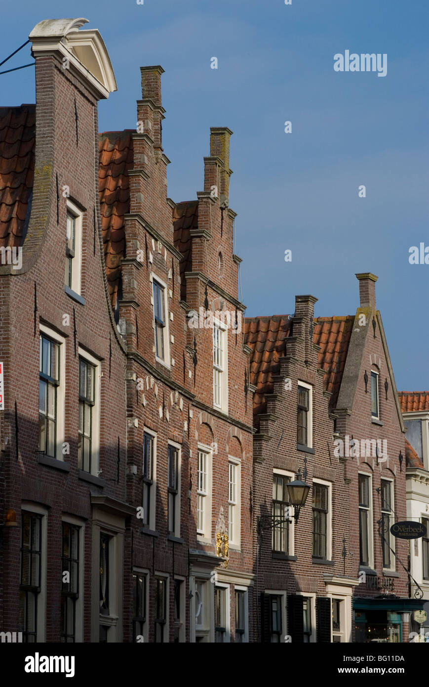 Town gables, Edam, Netherlands, Europe - Stock Image