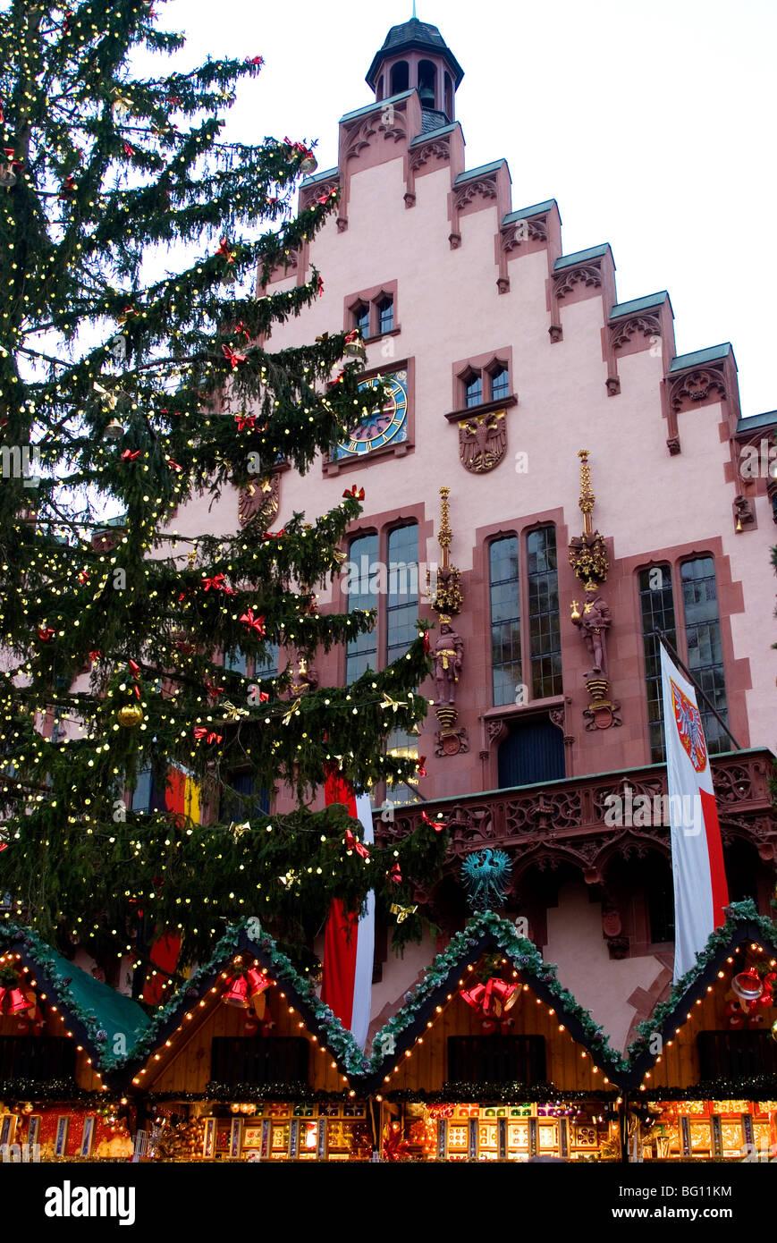 Weihnachtsmarkt (Christmas Market), Frankfurt, Hesse, Germany, Europe - Stock Image
