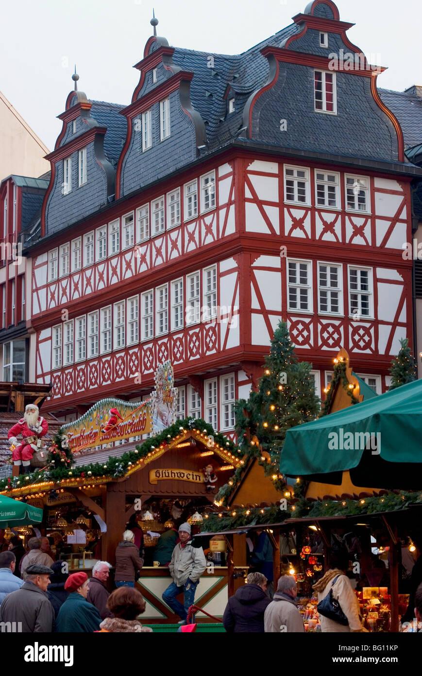 Weihnachtsmarkt (Christmas Market), Frankfurt, Hesse, Germany, Europe Stock Photo