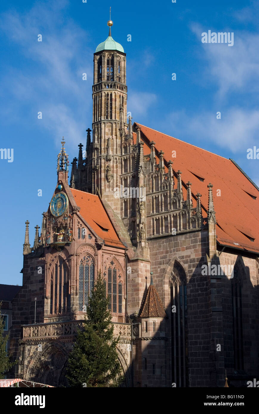 Unsere Liebe Frau Church (Church of Our Lady), Nuremberg, Bavaria, Germany, Europe - Stock Image