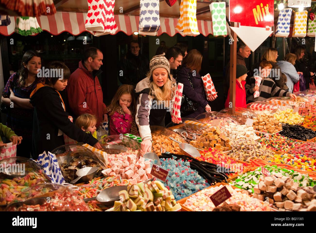 UK, England, Manchester, Albert Square, Brazennose Street market, sweet - Stock Image