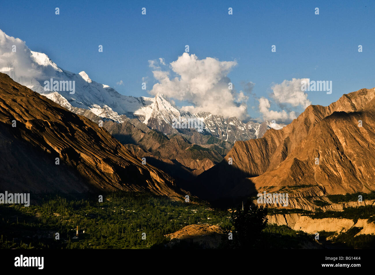 The beautiful Hunza valley. - Stock Image