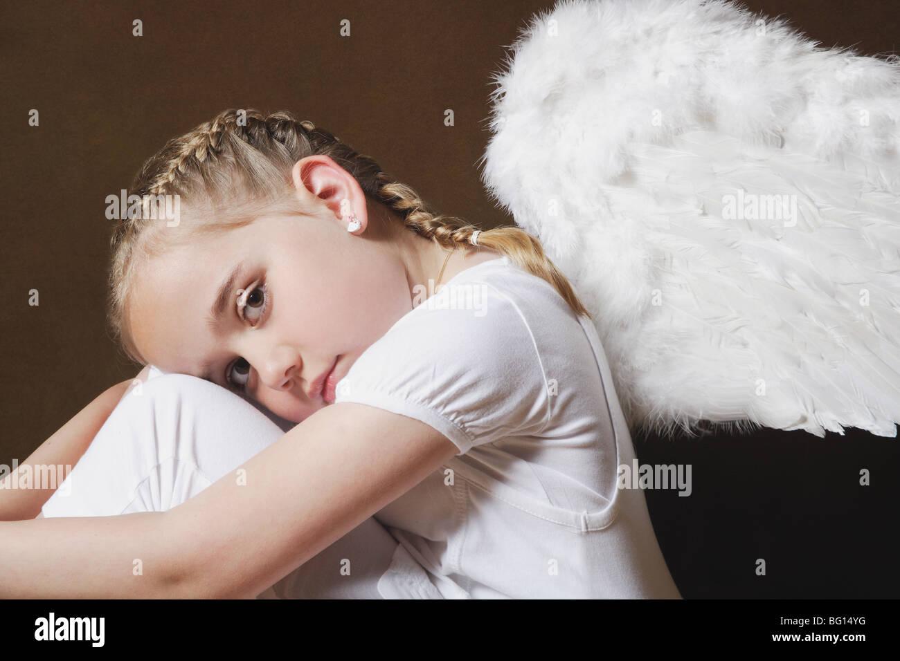 Angel girl - Stock Image