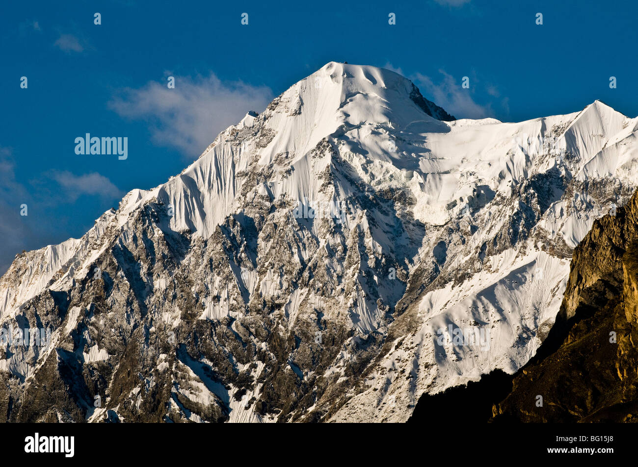 Dramatic scenery as seen from the Hunza valley. - Stock Image