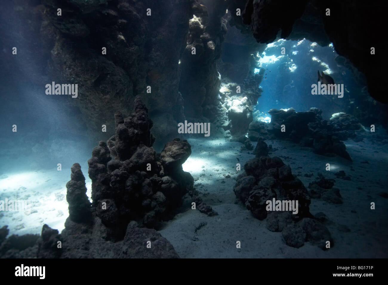 Underwater cave - Stock Image