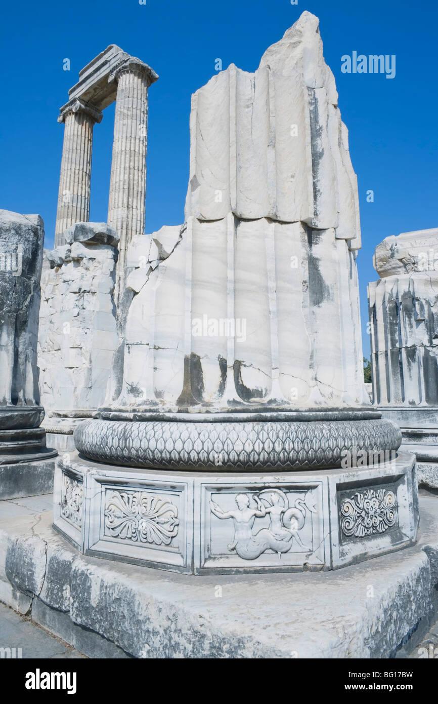 Temple of Apollo, Didyma, Anatolia, Turkey, Asia Minor, Eurasia - Stock Image