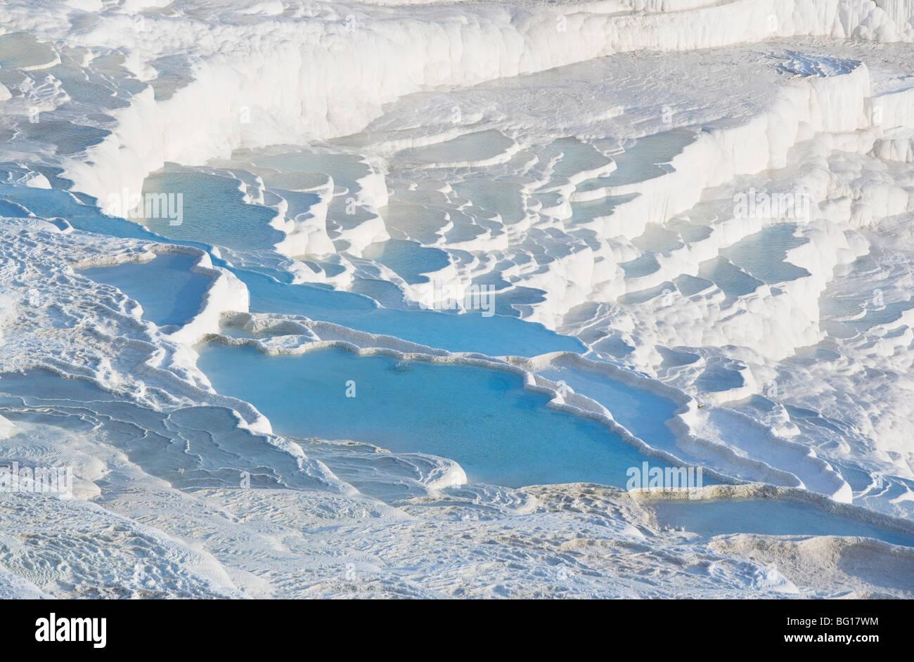 Terraced thermal pools, Pamukkale, UNESCO World Heritage Site, Anatolia, Turkey, Asia Minor, Eurasia - Stock Image