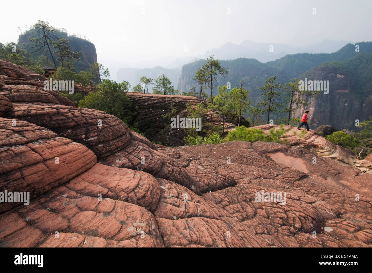 1000 Turtles Mountain in Three Parallel Gorges National Park, UNESCO World Heritage Site, Liming town, Yunnan Province, - Stock Image