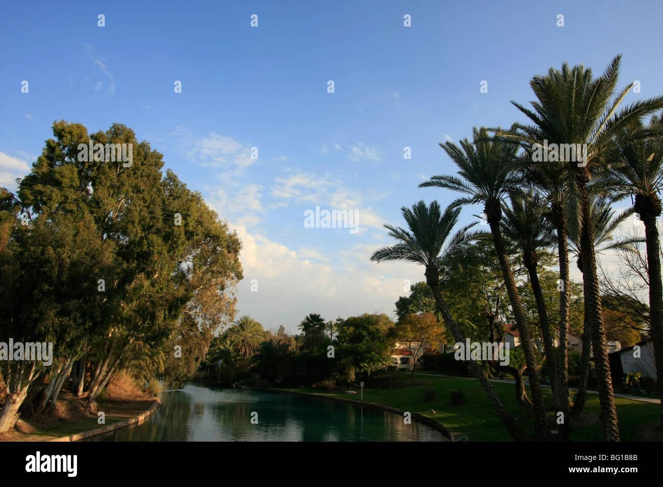 Israel, Beth Shean valley. Amal Strem in kibbutz Nir David - Stock Image