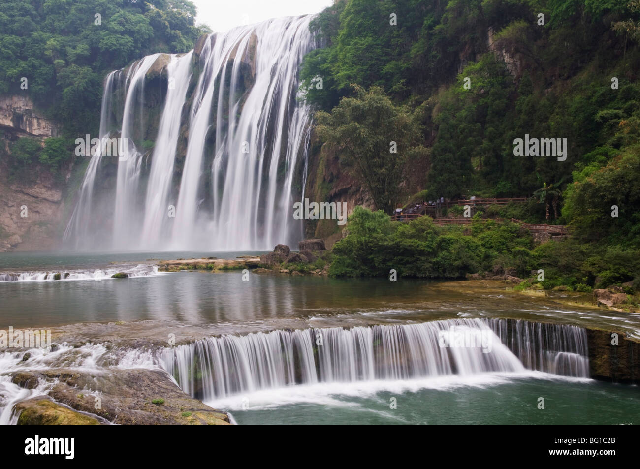 Huangguoshu Waterfall largest in China 81m wide and 74m high, Guizhou Province, China, Asia - Stock Image