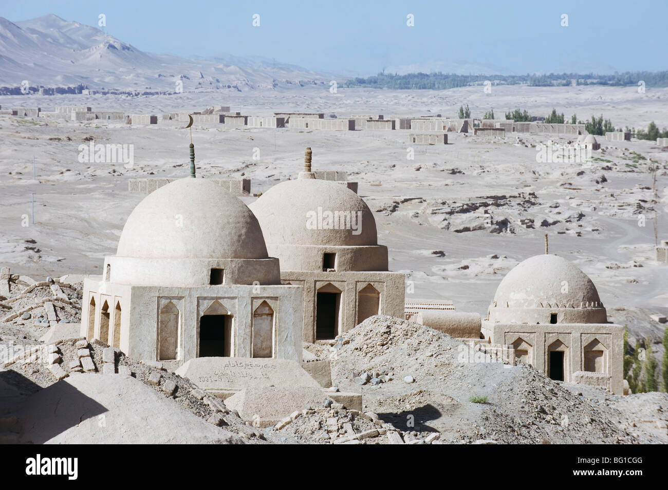 Ruined city of Jiaohe, Turpan on the Silk Route, UNESCO World Heritage Site, Xinjiang Province, China, Asia Stock Photo