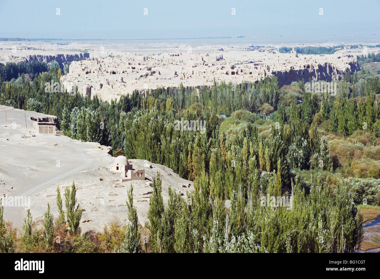Ruined city of Jiaohe, in Turpan on the Silk Route, UNESCO World Heritage Site, Xinjiang Province, China, Asia Stock Photo