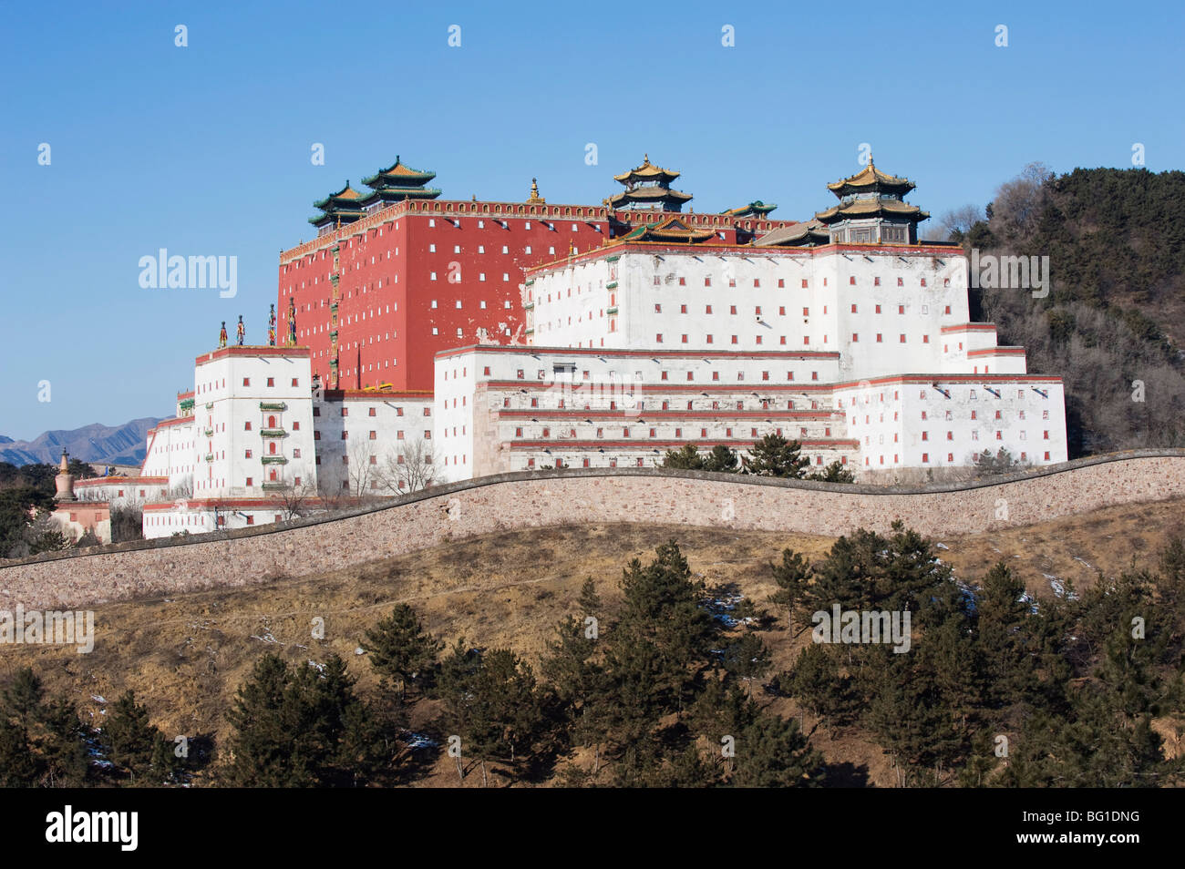 Putuo Zongcheng Tibetan outer temple dating from 1767, Chengde city, UNESCO World Heritage Site, Hebei Province, - Stock Image