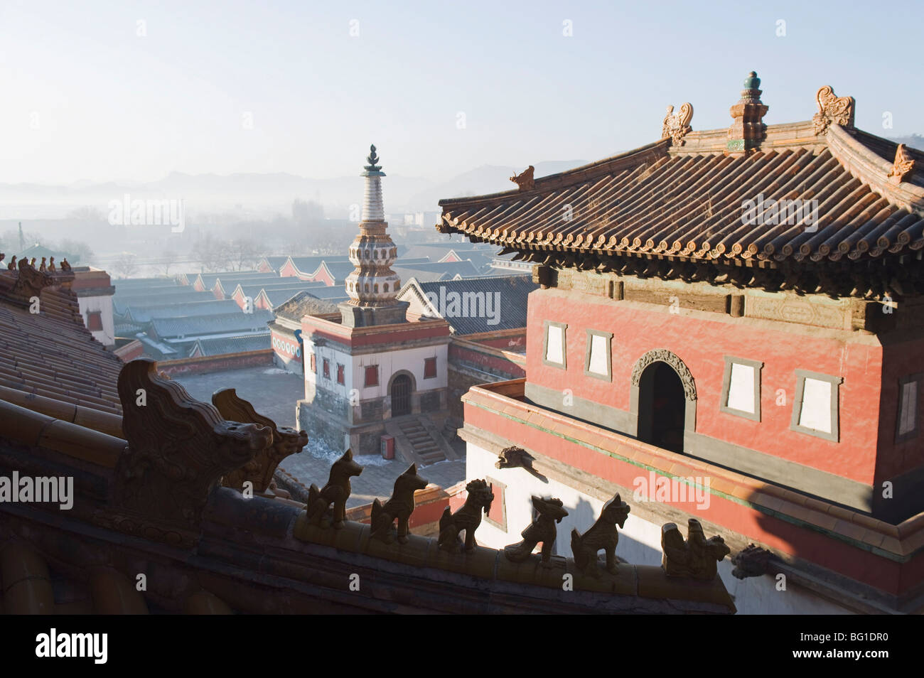 Puning Si outer temple dating from 1755, Chengde city, UNESCO World Heritage Site, Hebei Province, China, Asia - Stock Image