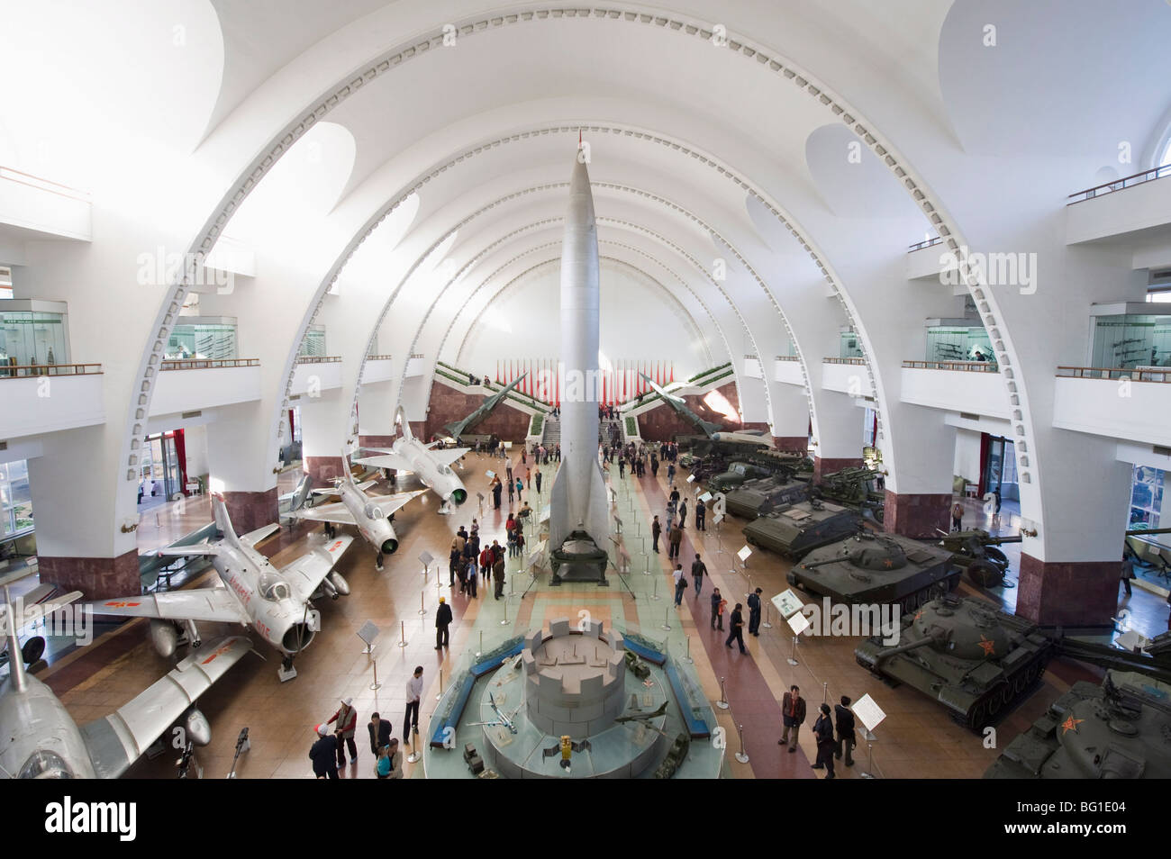 Rocket tanks and planes at the Military Museum, Beijing, China, Asia - Stock Image