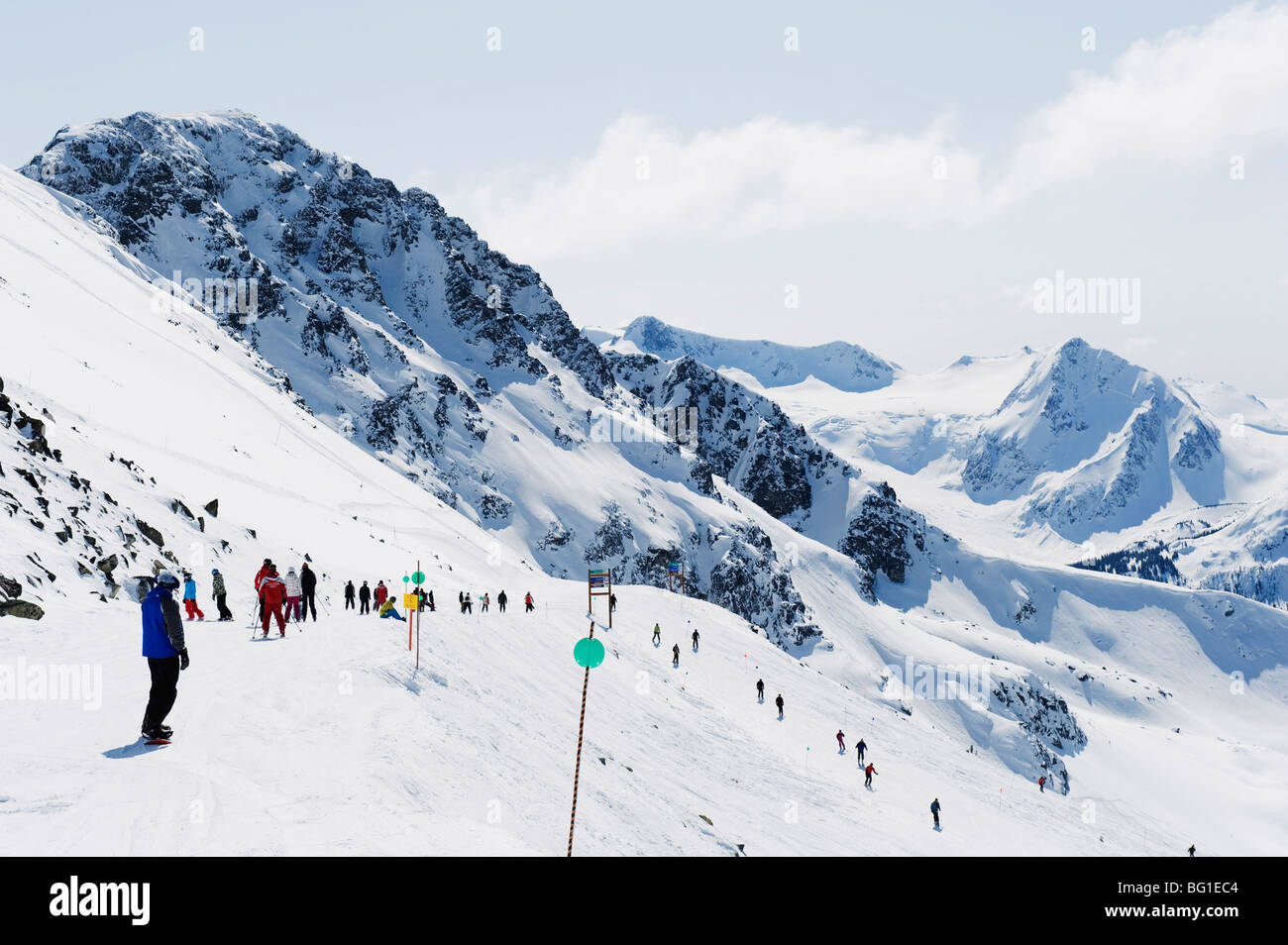 Whistler mountain resort, venue of the 2010 Winter Olympic Games, British Columbia, Canada, North America Stock Photo