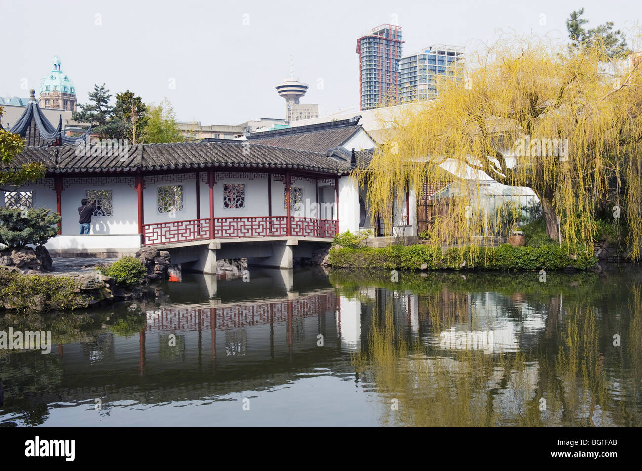 Pavilion in Dr. Sun Yat Sen Park, Chinatown, Vancouver, British Columbia, Canada, North America - Stock Image