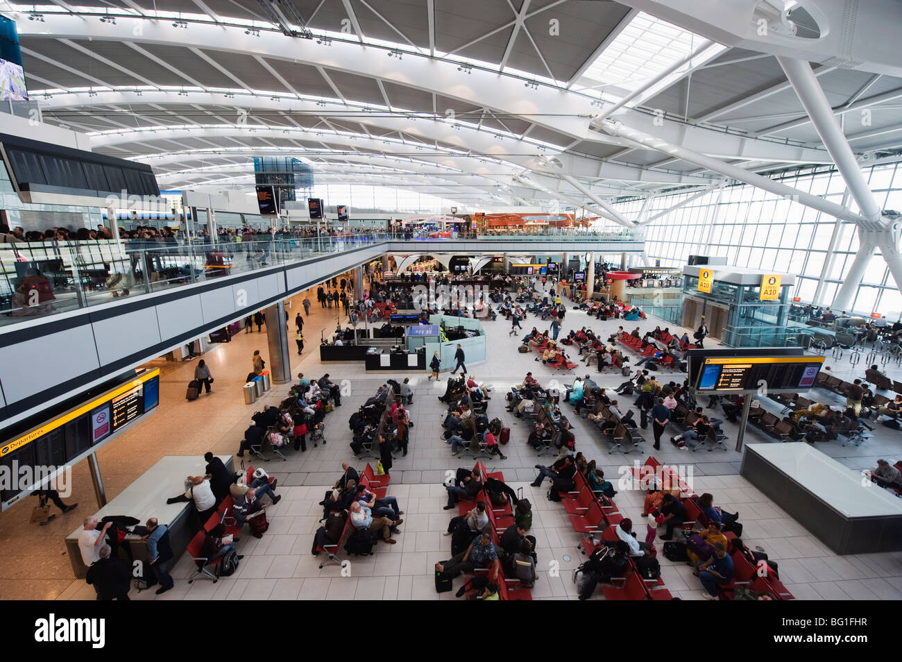 Heathrow Airport, Terminal 5, London, England, United Kingdom, Europe - Stock Image