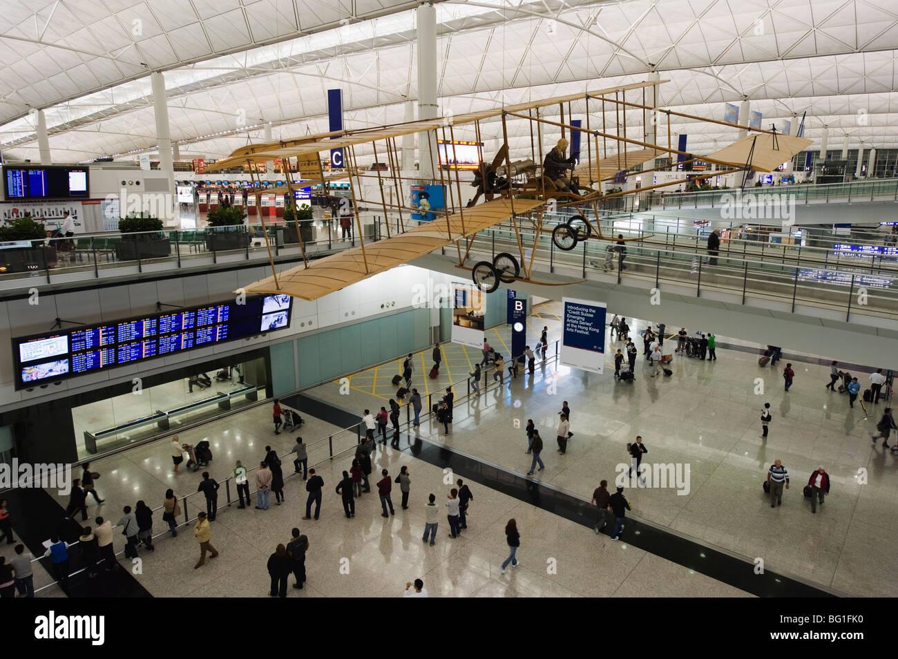 Hong Kong Airport, Hong Kong, China, Asia - Stock Image