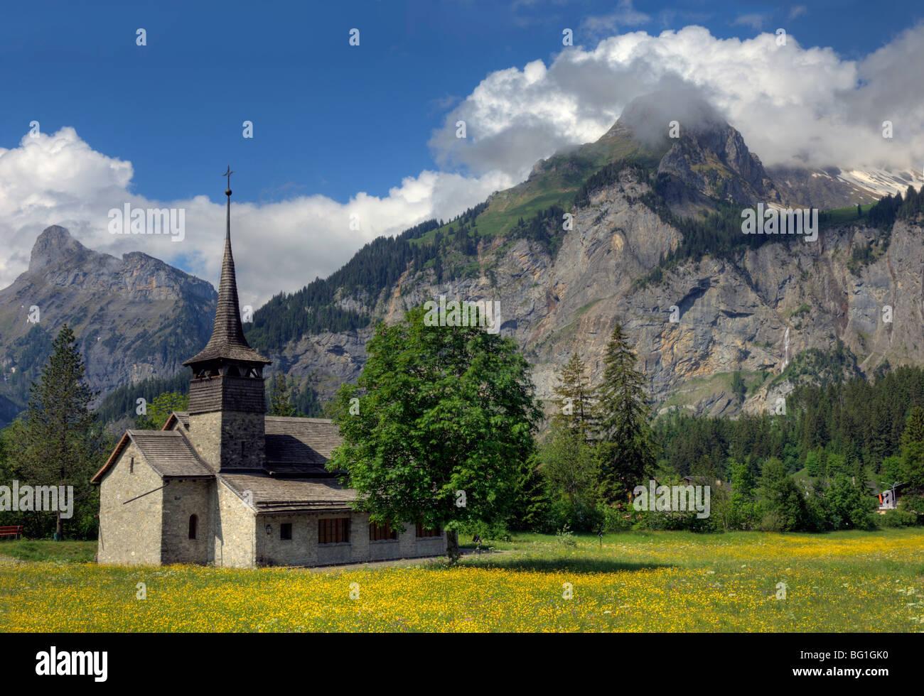 Kandersteg in the Canton of Bern,Switzerland - Stock Image