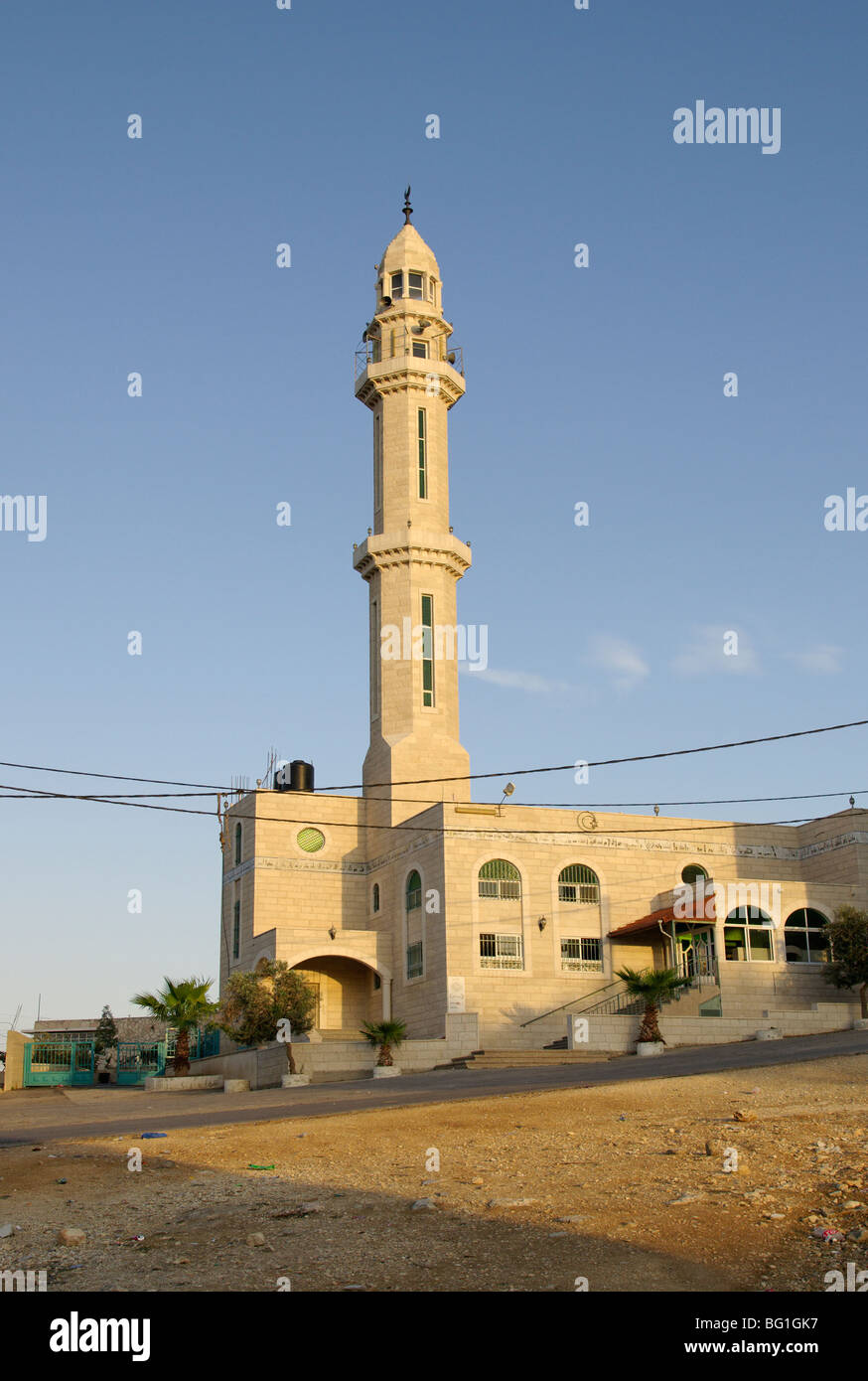 Mosque in al-Jib, West Bank, Palestine - Stock Image