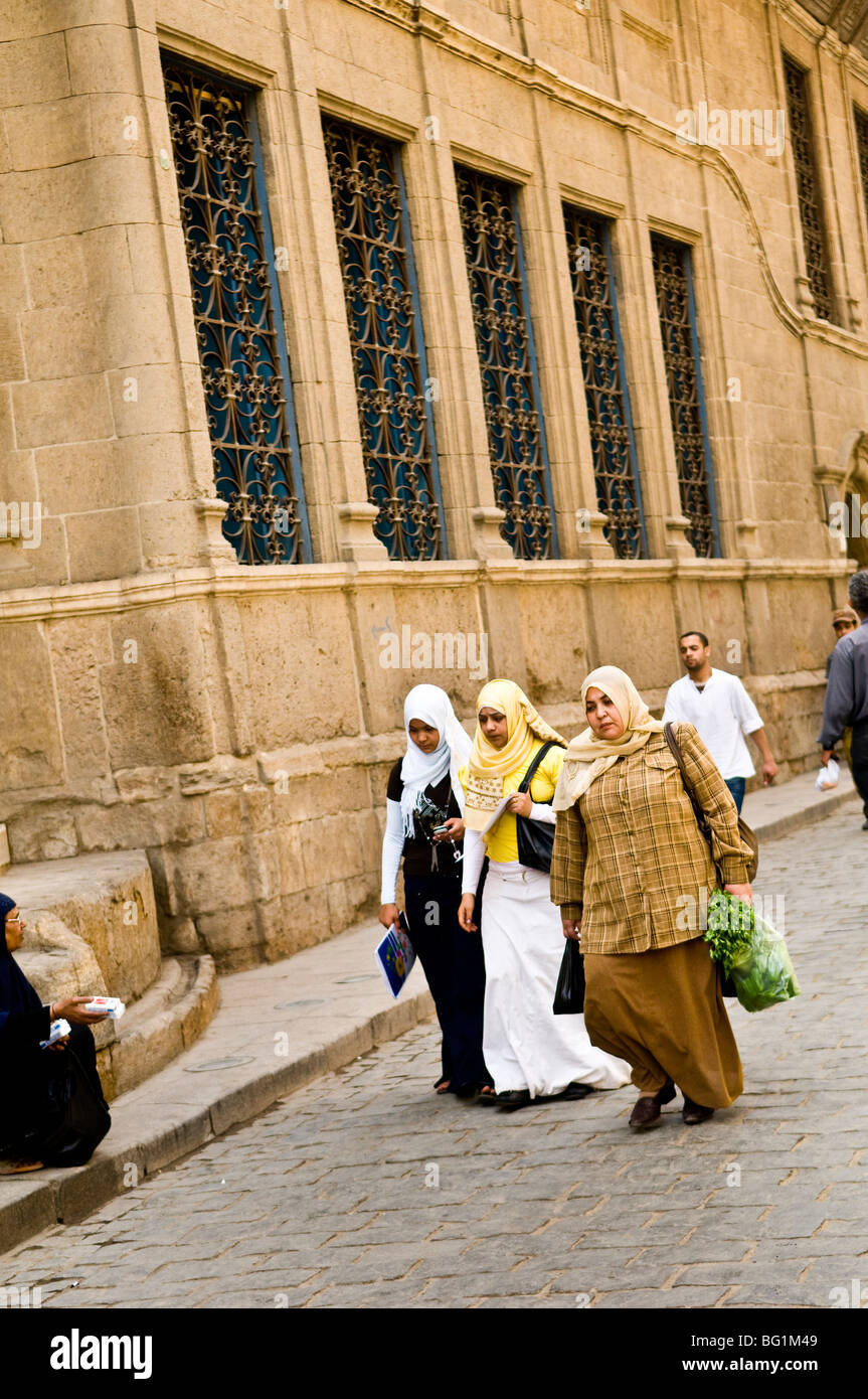 Named Islamic Cairo after the many mosques located in that area of the city. - Stock Image