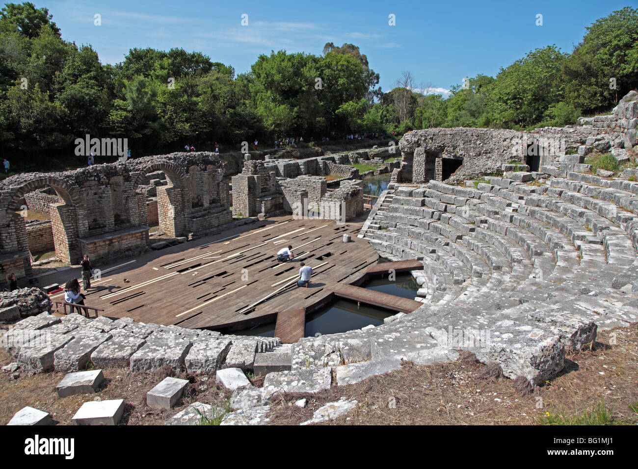 3rd Century AD Theater at Butrint National Park, Albania - Stock Image
