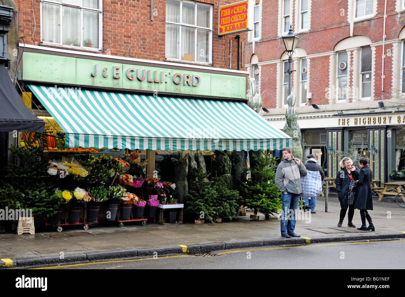 Greengrocers Shop Highbury Barn Islington London England UK Stock Photo