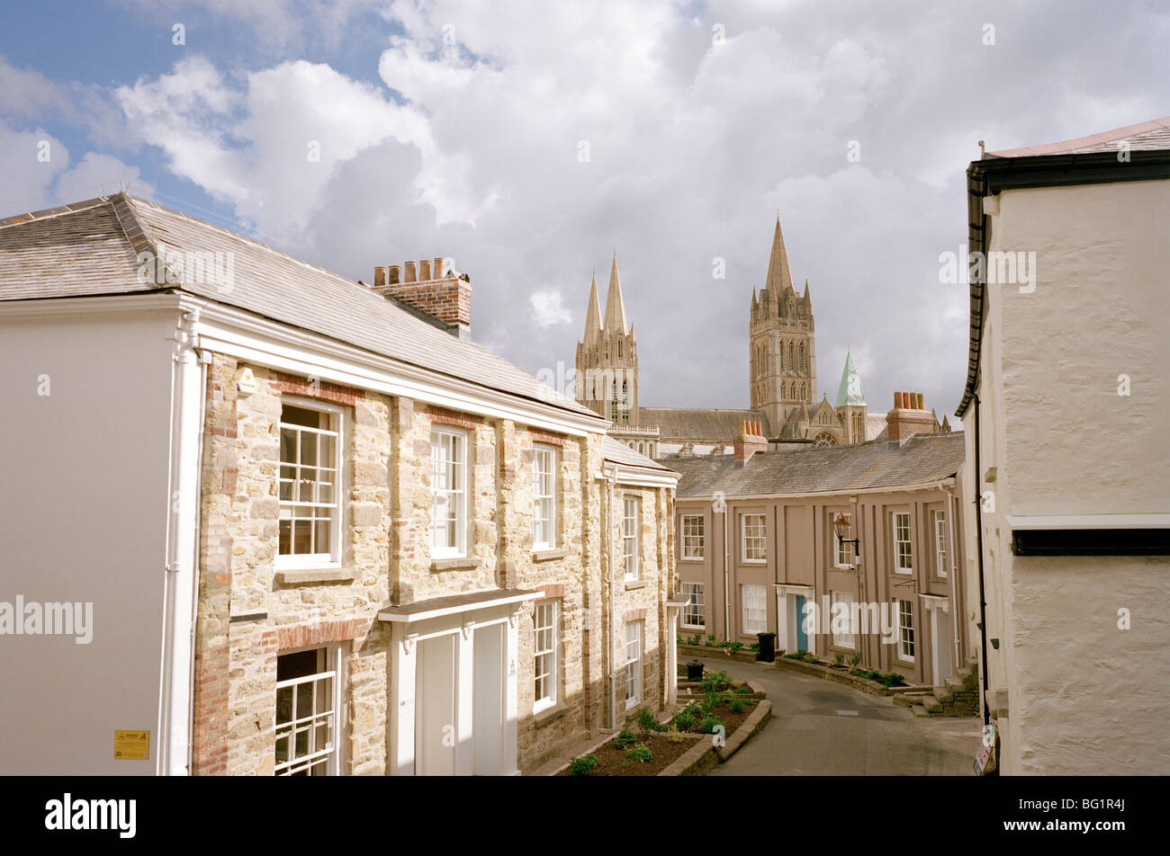 Truro Cathedral in the city of Truro in England in Great Britain in the United Kingdom UK. Cities House Religion - Stock Image