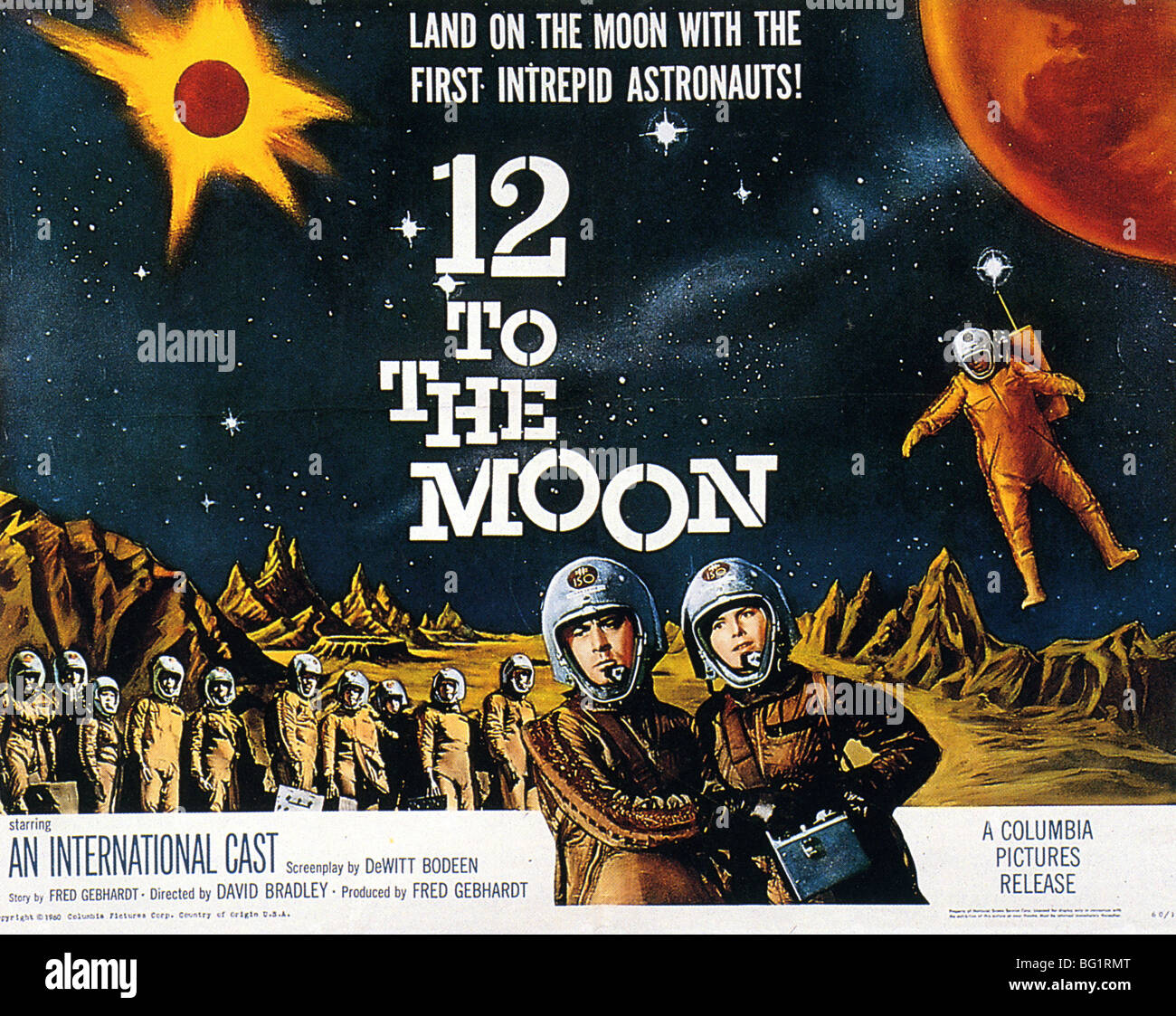 12 TO THE MOON - Poster for 1960 Columbia film - Stock Image