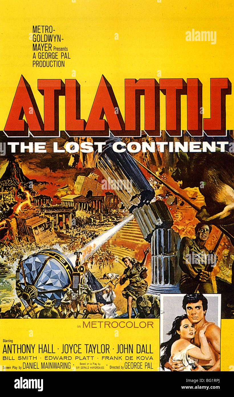 ATLANTIS THE LOST CONTINENT Poster for 1961 Lowe's Inc film - Stock Image