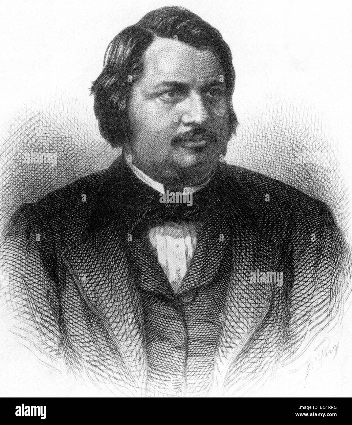 Honore De Balzac French Novelist 1799 1850 Stock Photo