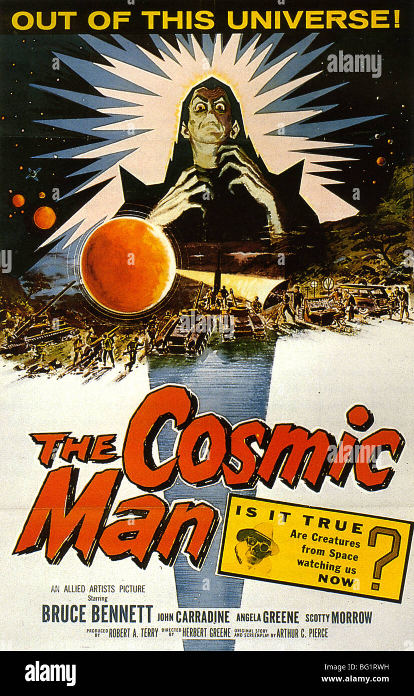 THE COSMIC MAN Poster for 1959 Allied Artists film - Stock Image