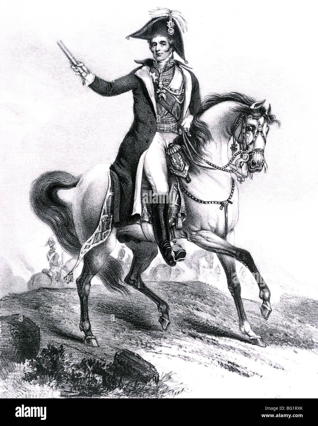 ARTHUR WELLESLEY, 1st DUKE OF WELLINGTON  (1769-1852) Irish-born soldier and statesman - Stock Image