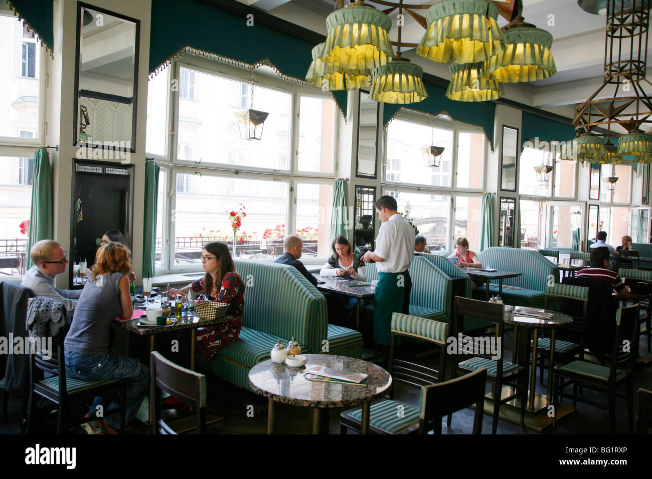 Grand Cafe Orient at the Museum of Czech Cubism, Stare Mesto, Prague, Czech Republic, Europe - Stock Image