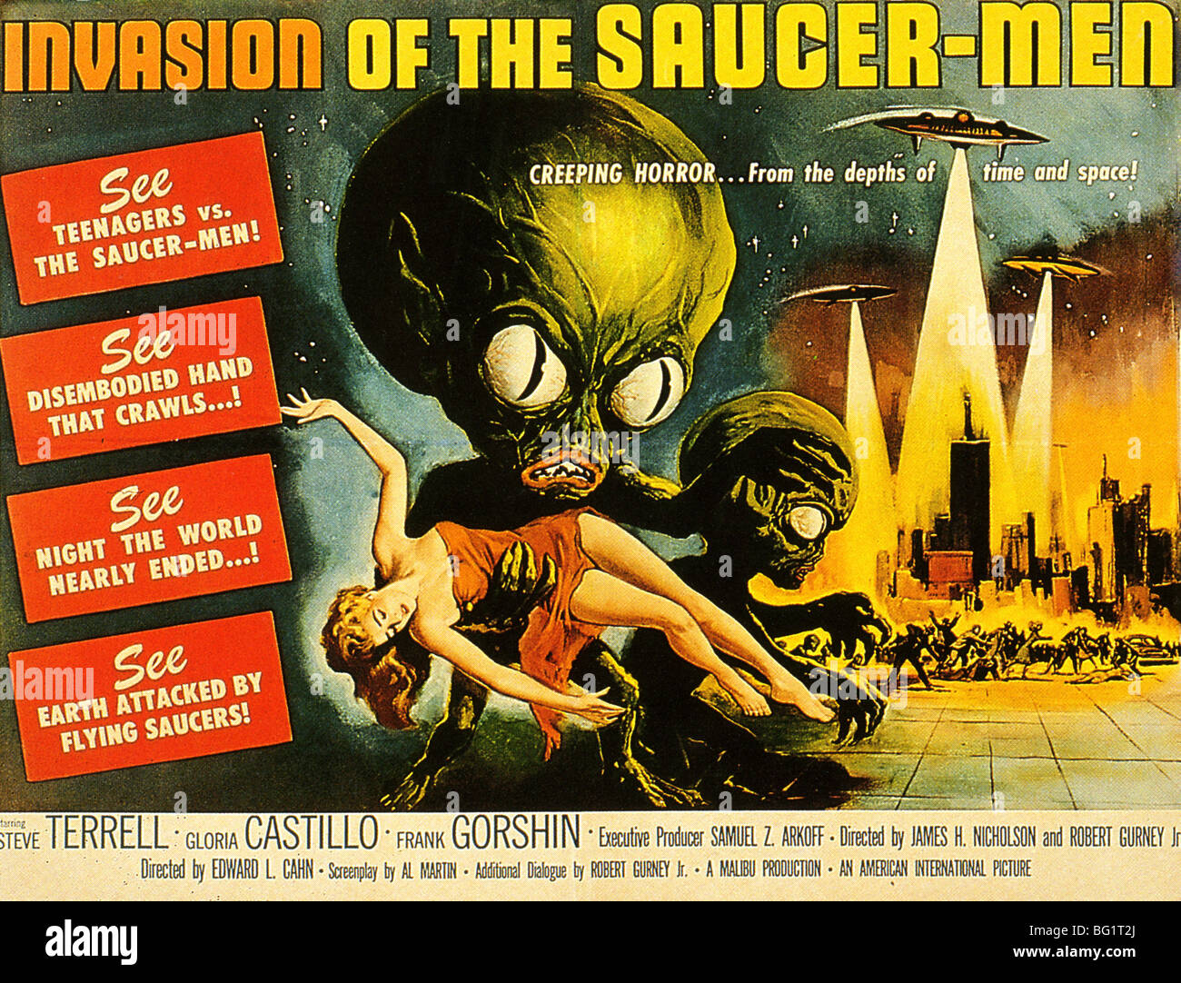 INVASION OF THE SAUCER-MEN Poster for 1957 American International Pictures film - Stock Image