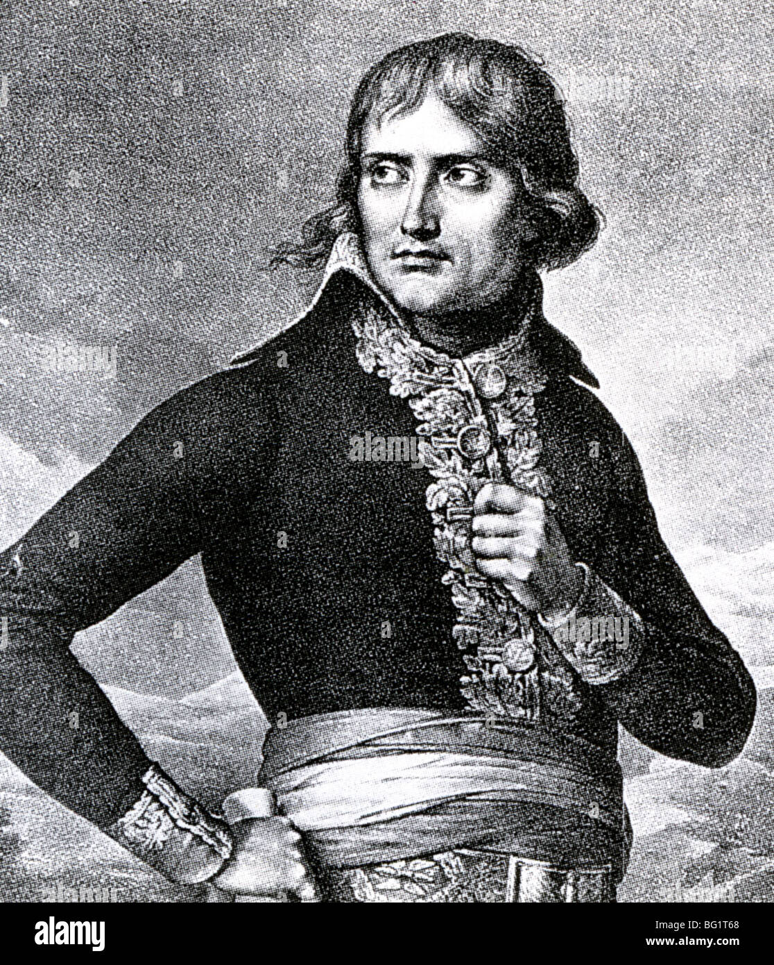 NAPOLEON BONAPARTE  (1769-1821) - French Emperor here in about 1795 - Stock Image