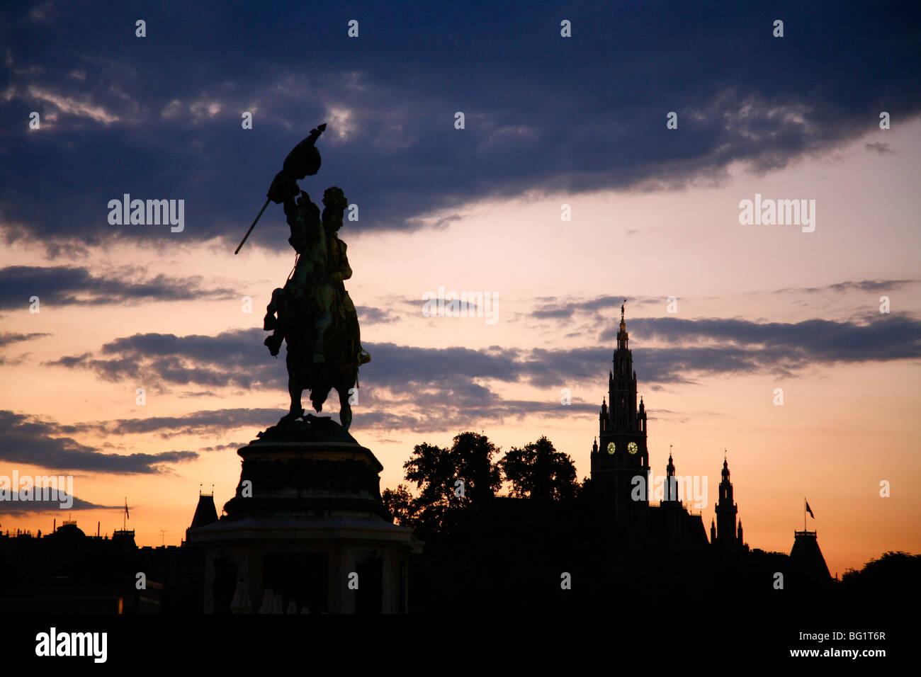 Archduke Karl statue at Heldenplatz, Vienna, Austria, Europe - Stock Image