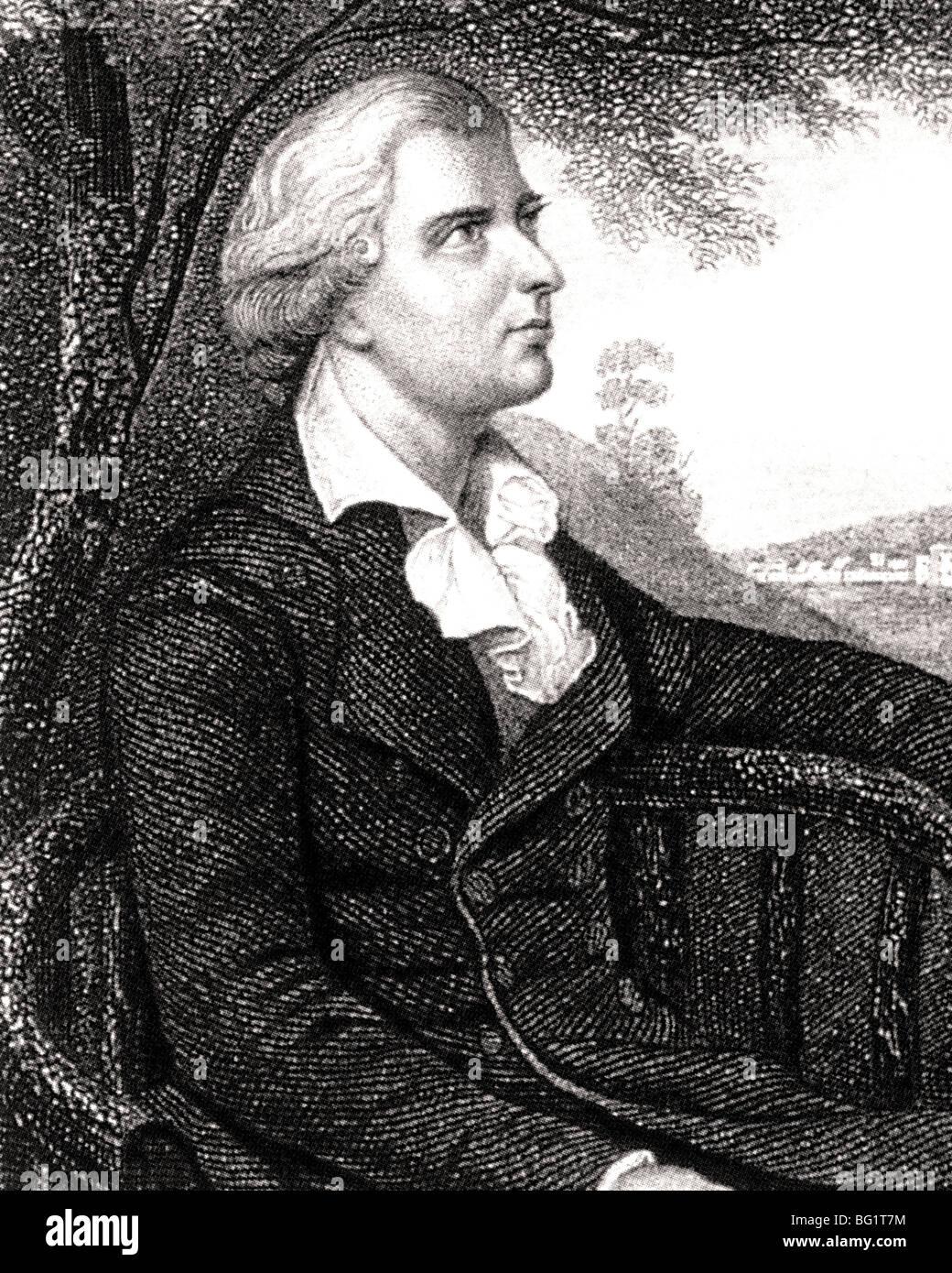 FRIEDRICH von SCHILLER - German dramatist, poet and historian (1759-1805) - Stock Image