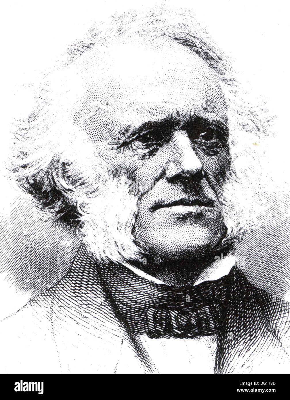 SIR CHARLES LYELL - Scottish geologist (1797-1875) - Stock Image