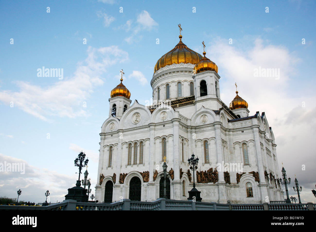 Cathedral of Christ the Saviour, Moscow, Russia, Europe - Stock Image