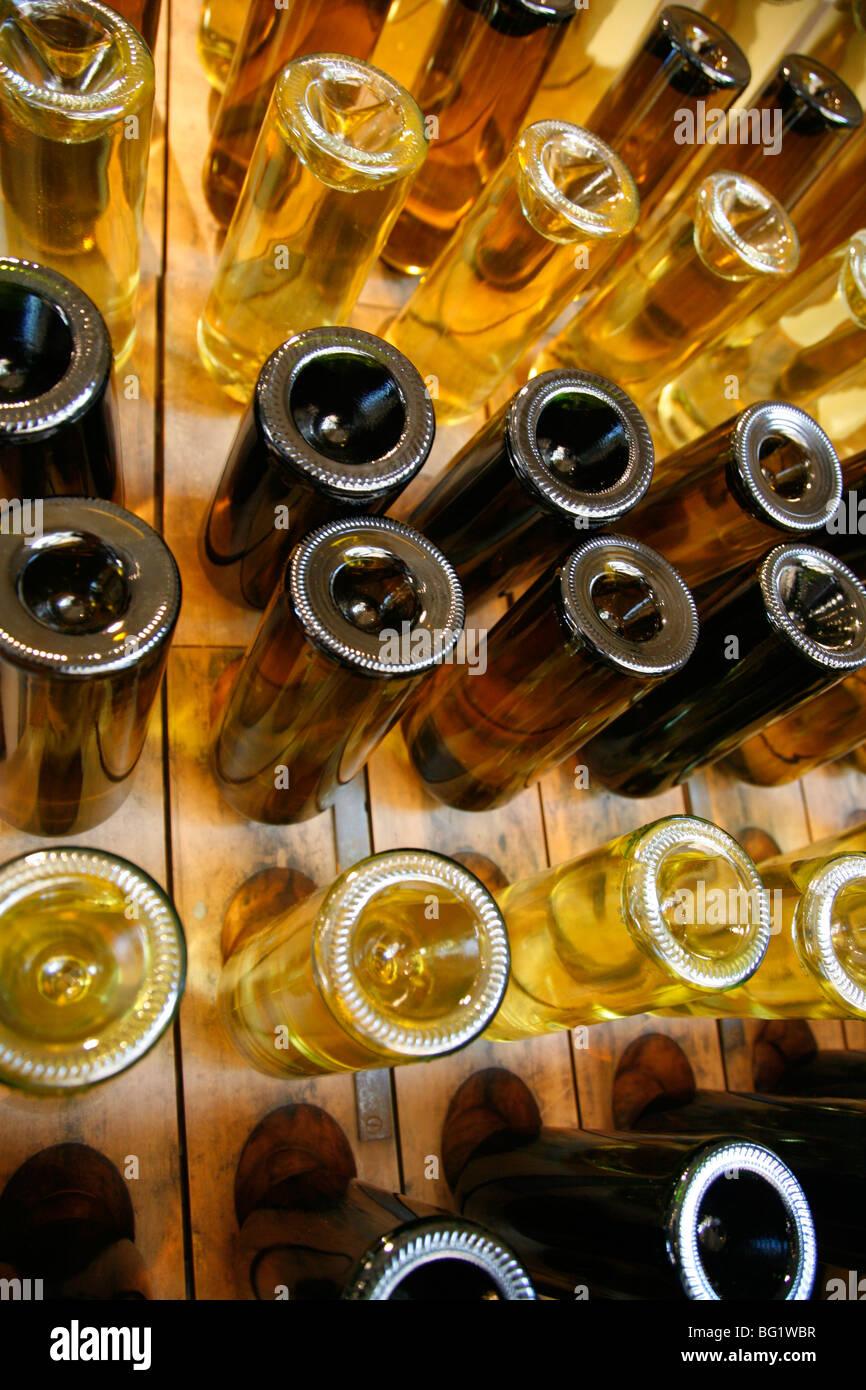 Wine bottles, Mendoza, Argentina, South America - Stock Image