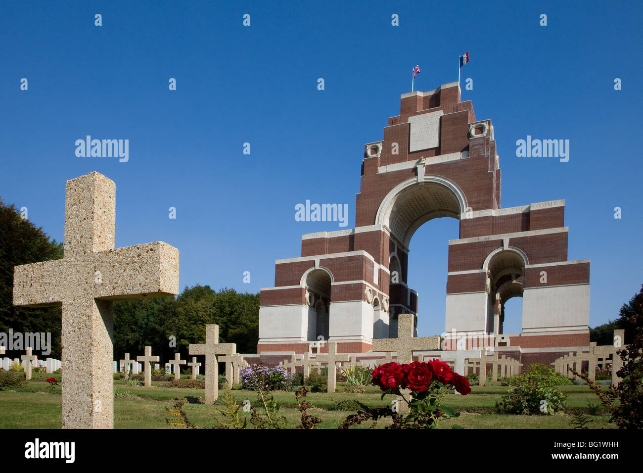 thiepval memorial france first world great war - Stock Image