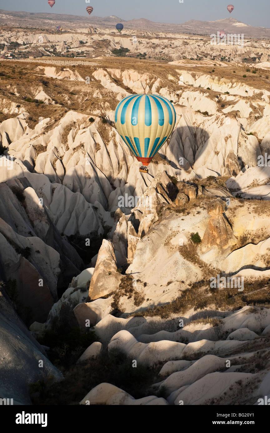 Hot air ballooning in Cappadocia, Nevsehir Province, Turkey with Kapadokya Balloons - Stock Image