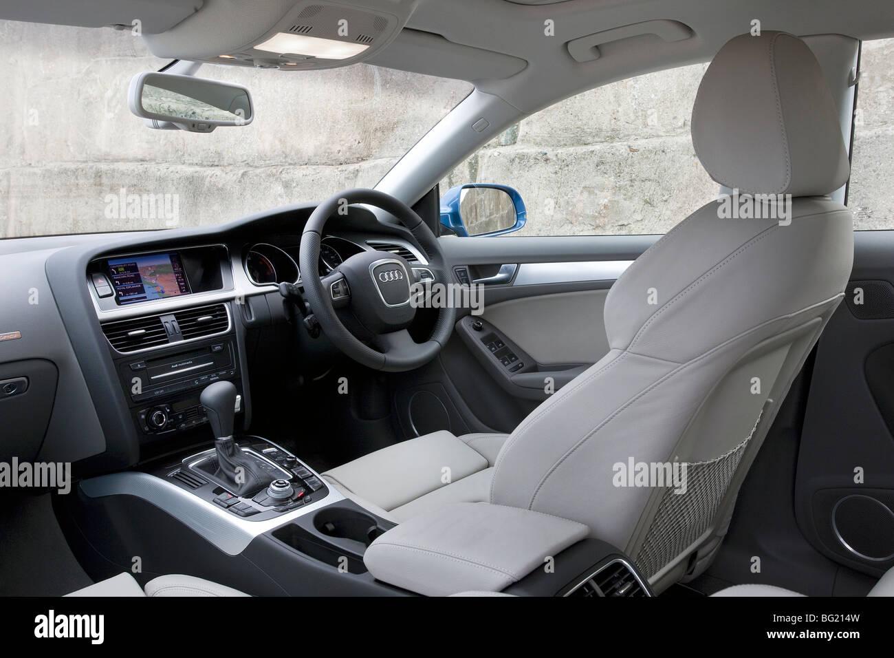 Audi A5 Sportback interior - Stock Image