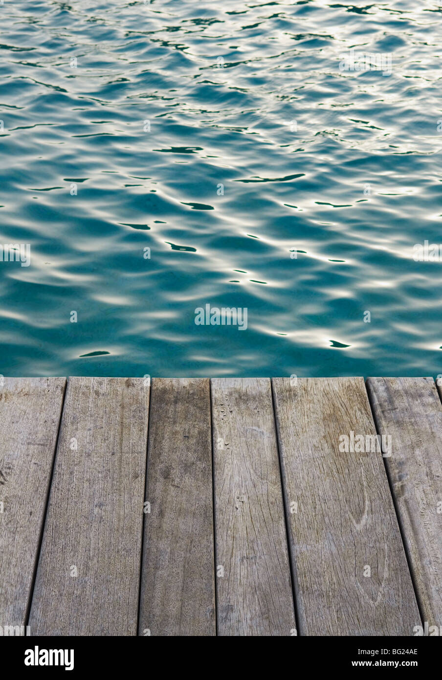 Dock on the water - Stock Image