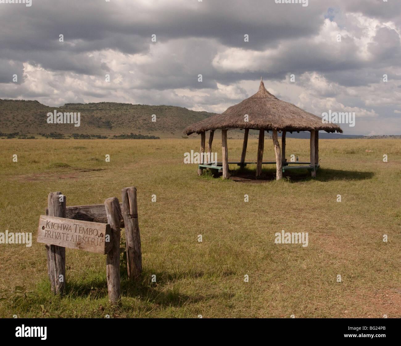Airstrip in the Masai Mara - Stock Image