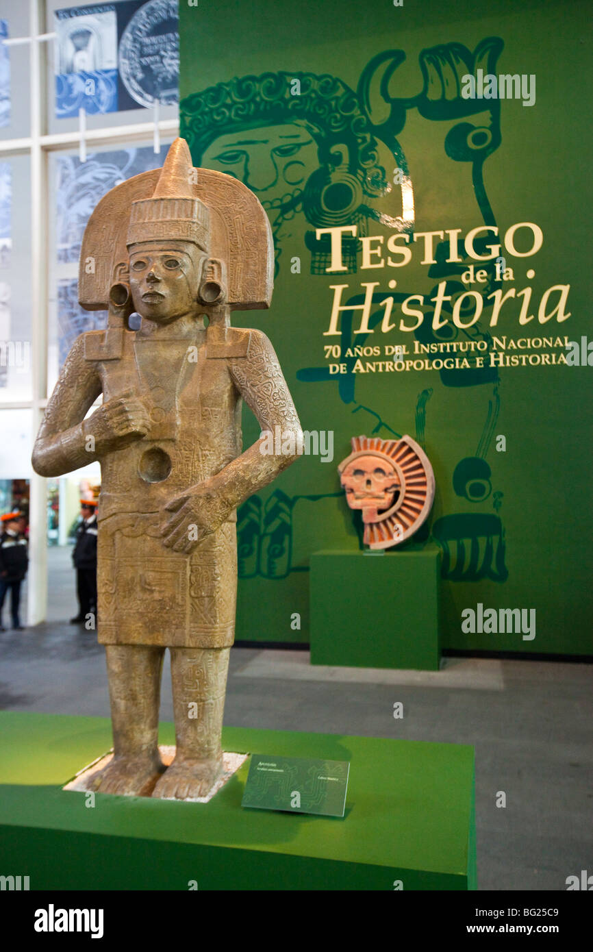Apotheosis Statue, National Museum of Anthropology Exhibit in Mexico City - Stock Image